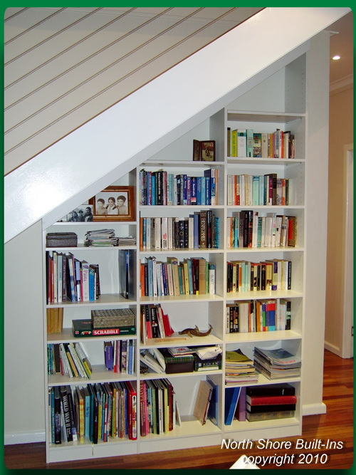 Bookcases Under Stairs Image